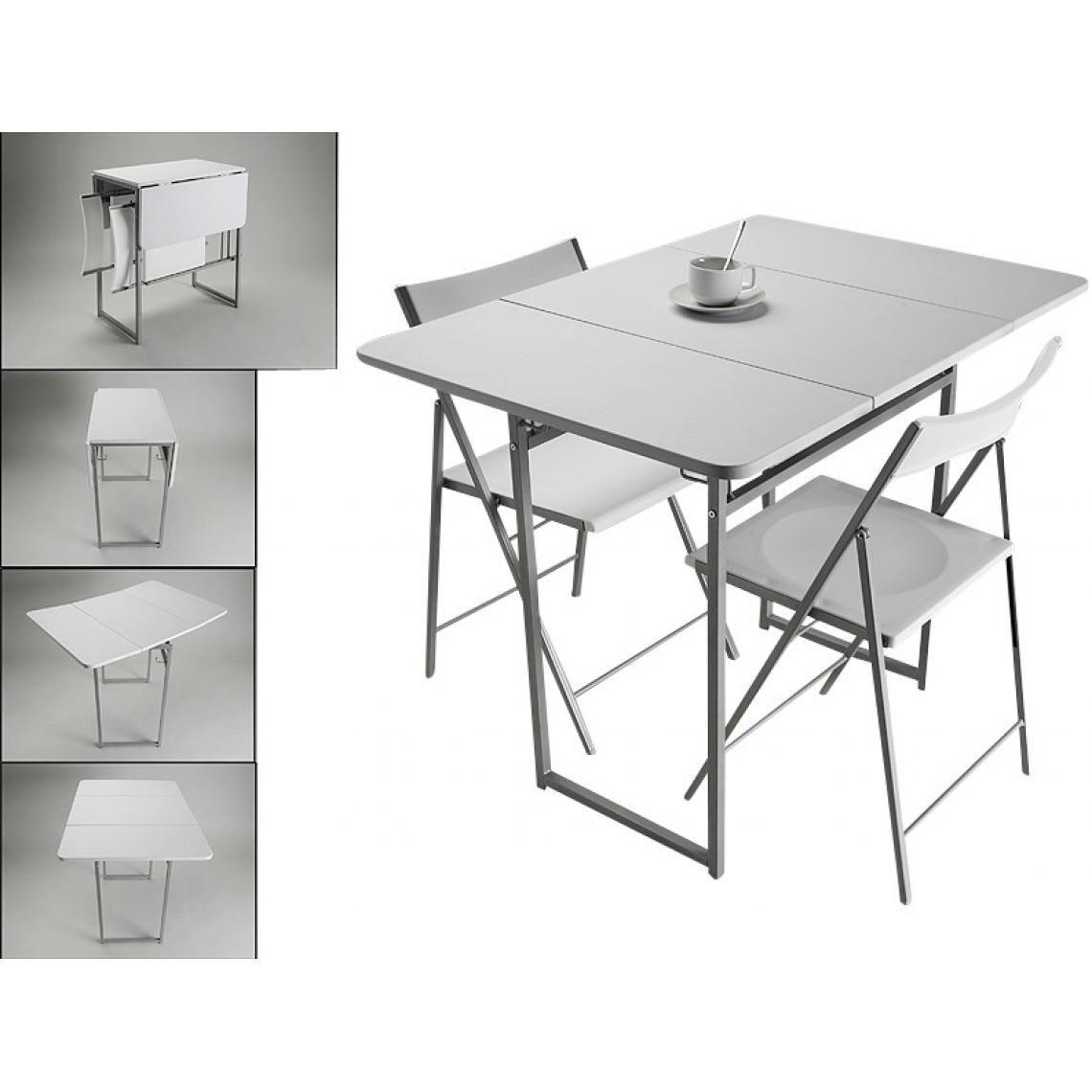 Table Pliante Et 2 Chaises Blanches En Bois Kingston Table Salle A Manger Table Pliante Table Et Chaises