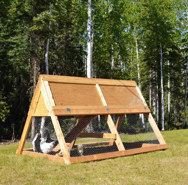 simple, easy to make and portable A Frame style chicken coop