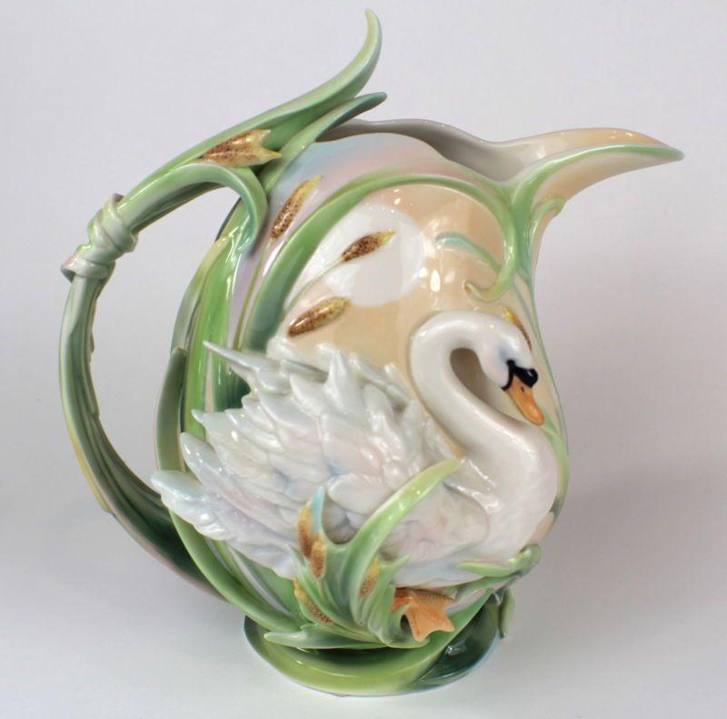 """Image detail for -... Franz """"The Southern Splendor"""" swan design sculptured porcelain pitcher"""