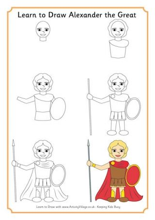learn to draw alexander the great sixth grade pinterest