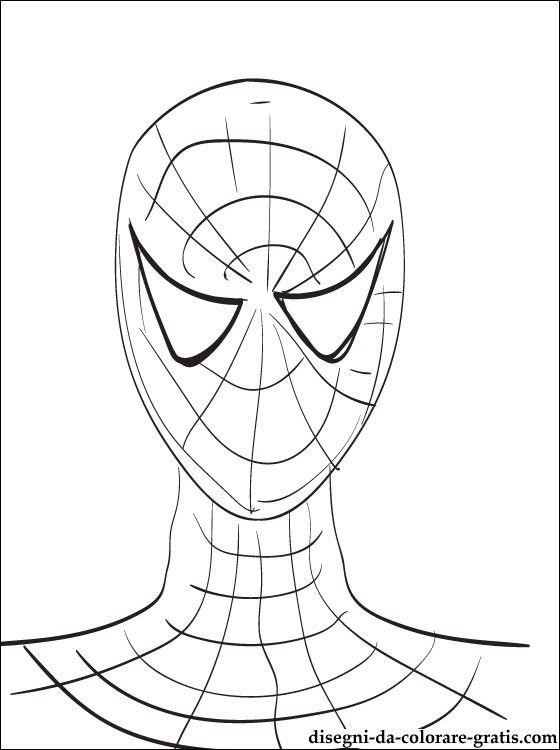 Disegno In Bianco E Nero Ritratto Di Spiderman Disegni Da