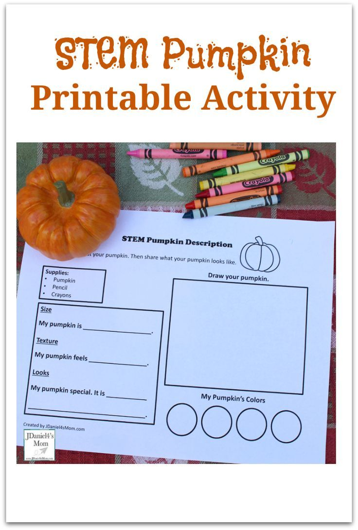 Stem Pumpkin Printable Activity Pumpkin Activities Kindergarten Stem Activities Kindergarten Printable Activities [ 1091 x 736 Pixel ]