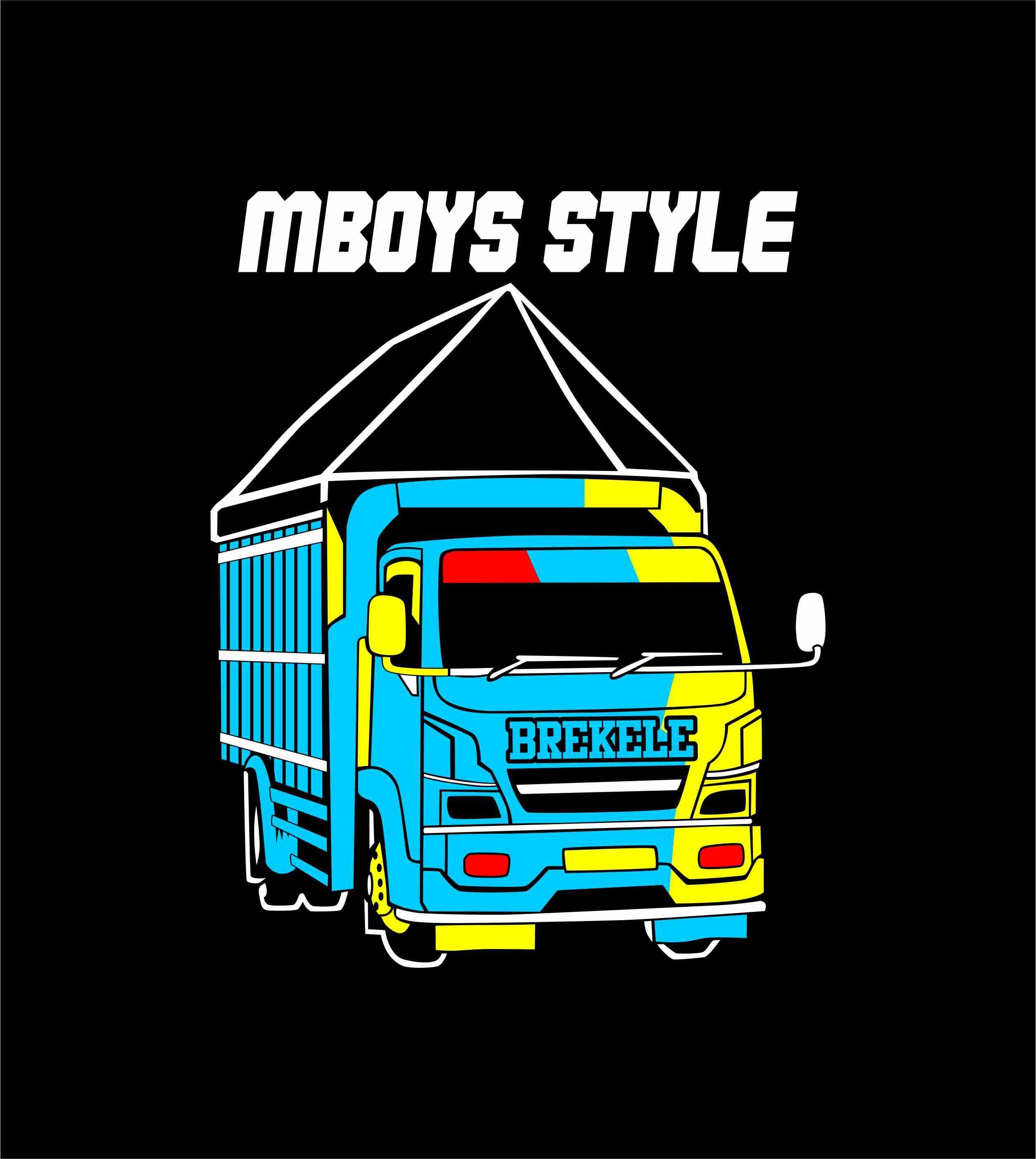 Truk Vector Mboys Style Desain Hiasan