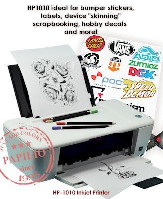 HP Inkjet Printer Includes Inkjet Vinyl Sample Pack - Vinyl decal printer