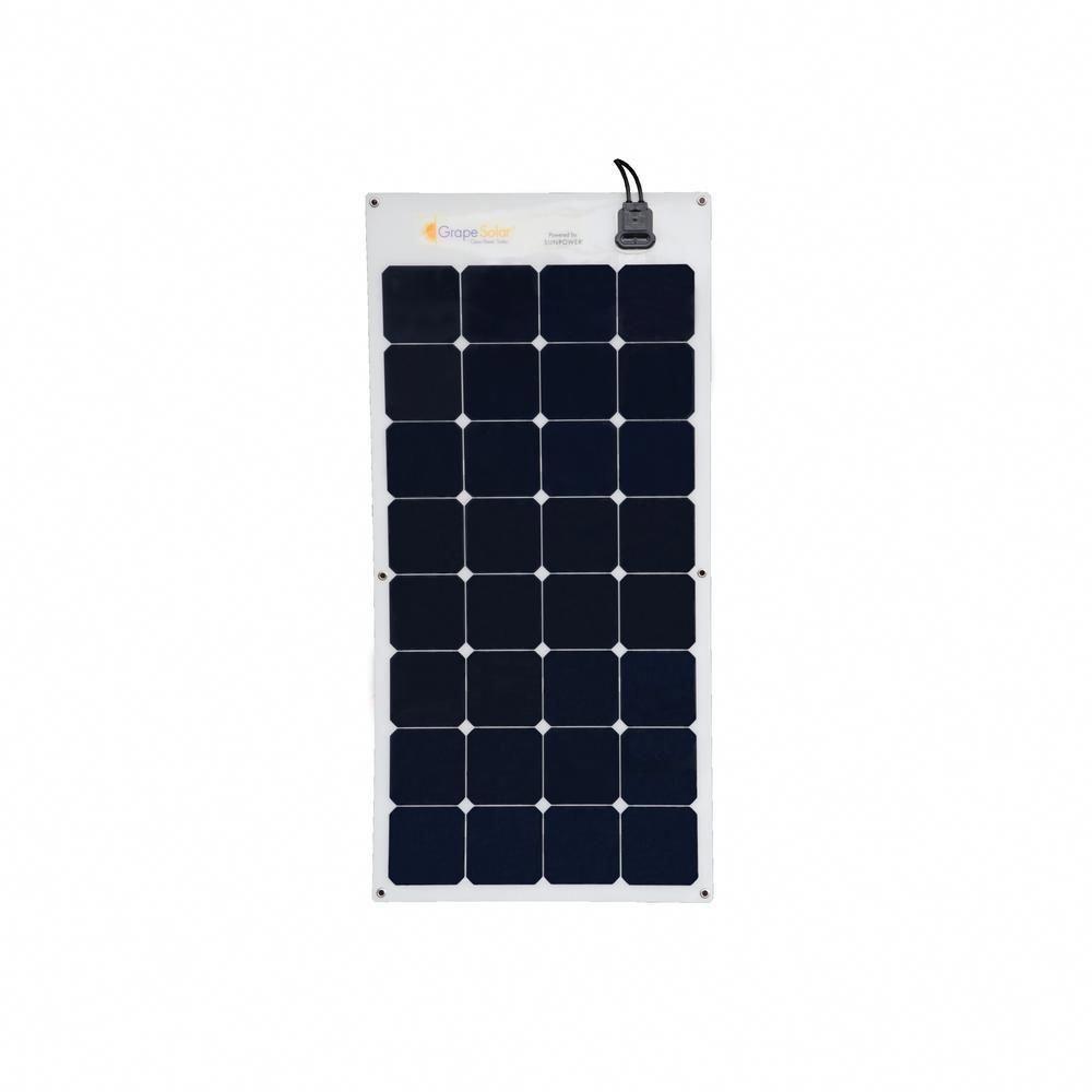 Grape Solar 100 Watt Flexible Monocrystalline Solar Panel Gs Flex 100 Sp The Home Depot Monocrystalline Solar Panels Solar Panels Solar