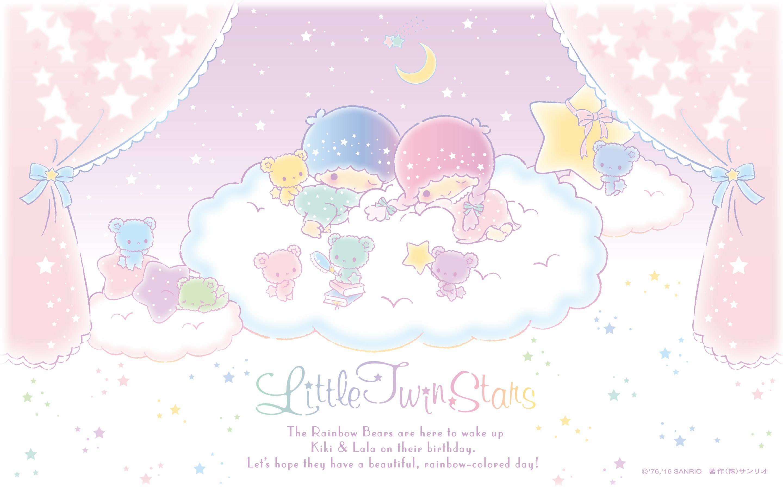 Little Twin Stars Wallpaper 16 十二月桌布 日本官方電子報 Stargazer Little Twin Stars Hello Kitty Images Character Wallpaper