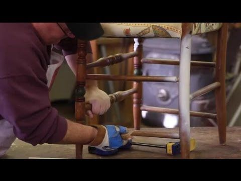 How to repair wood chair legs furniture repair tips youtube uses dowel to replace broken - Replacement chair leg tips ...