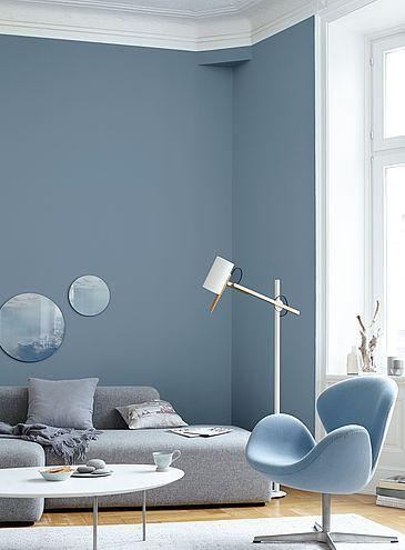 Blau Wandfarbe