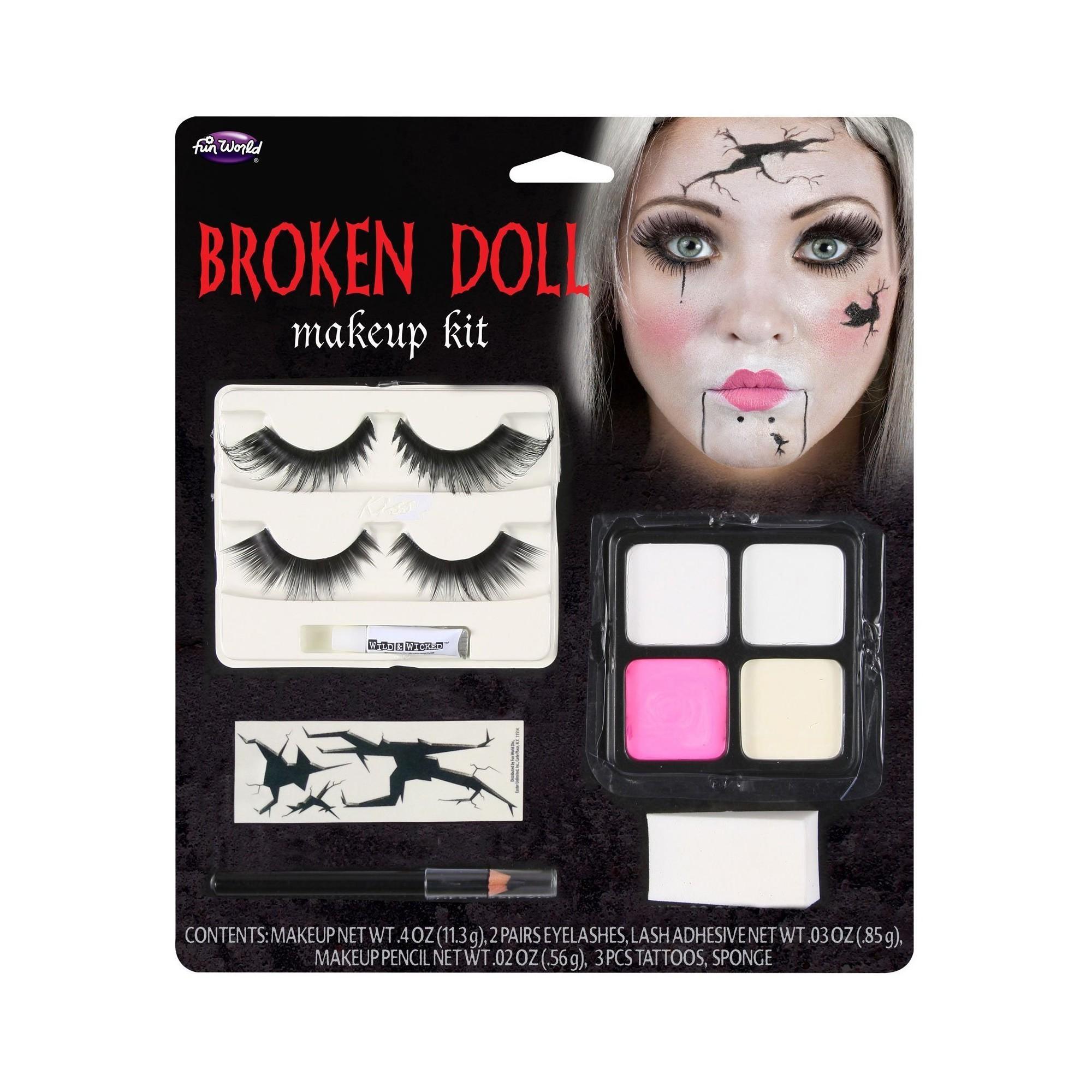 Broken Doll Face Makeup Kit, (With images) Broken doll