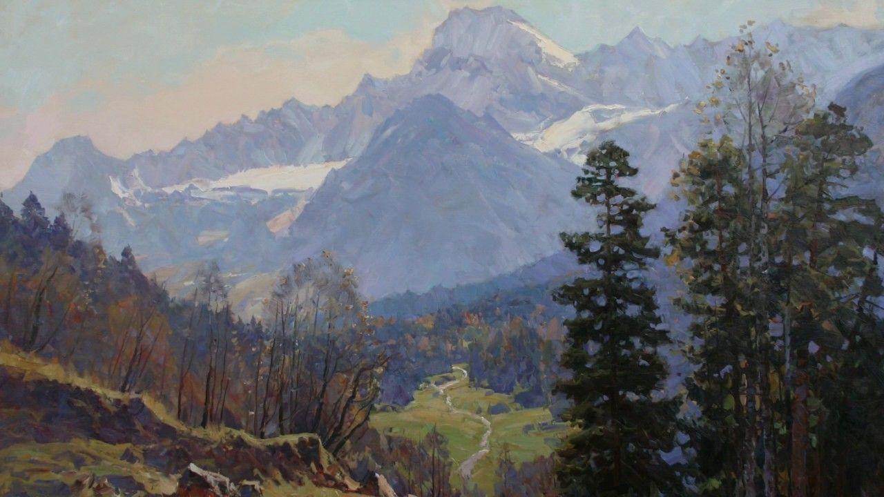 Artist plein air alexander babich spring landscape oil