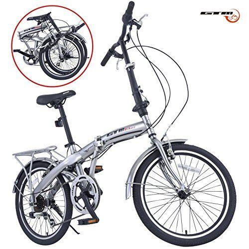 Gtm 20 6 Speed Foldable Bicycle Folding Bike Shimano Hybrid