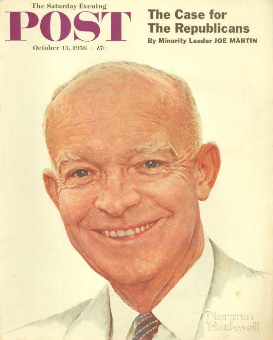 1956- President Eisenhower - By Norman Rockwell