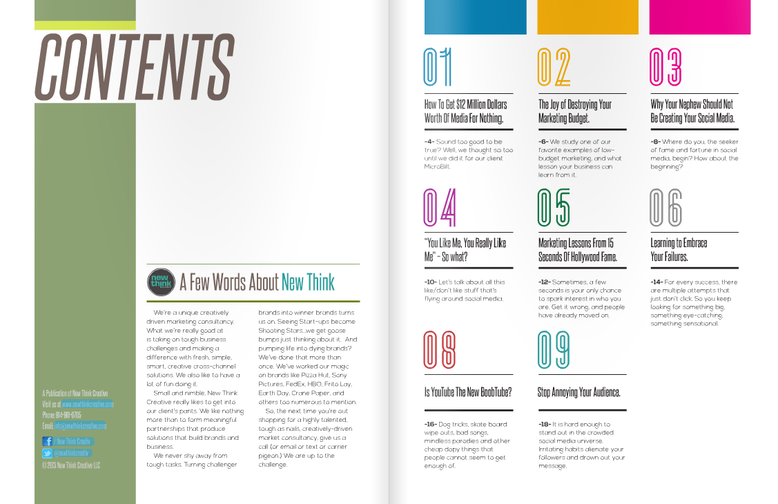 table of contents. | .design inspiration. | Table of ...