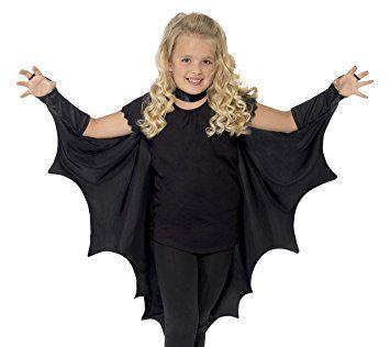 Smiffy's Kids Unisex Vampire Bat Costume, Wings, Black, One Size,  44414