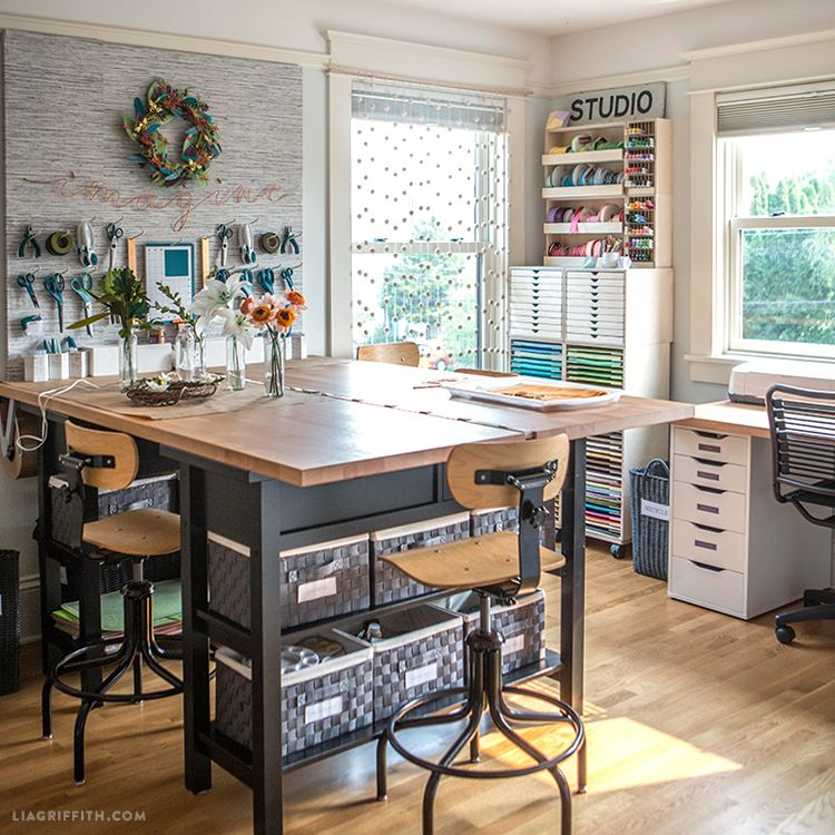 Photo of See Our New Craft Room Furniture & Storage Solutions – Lia Griffith