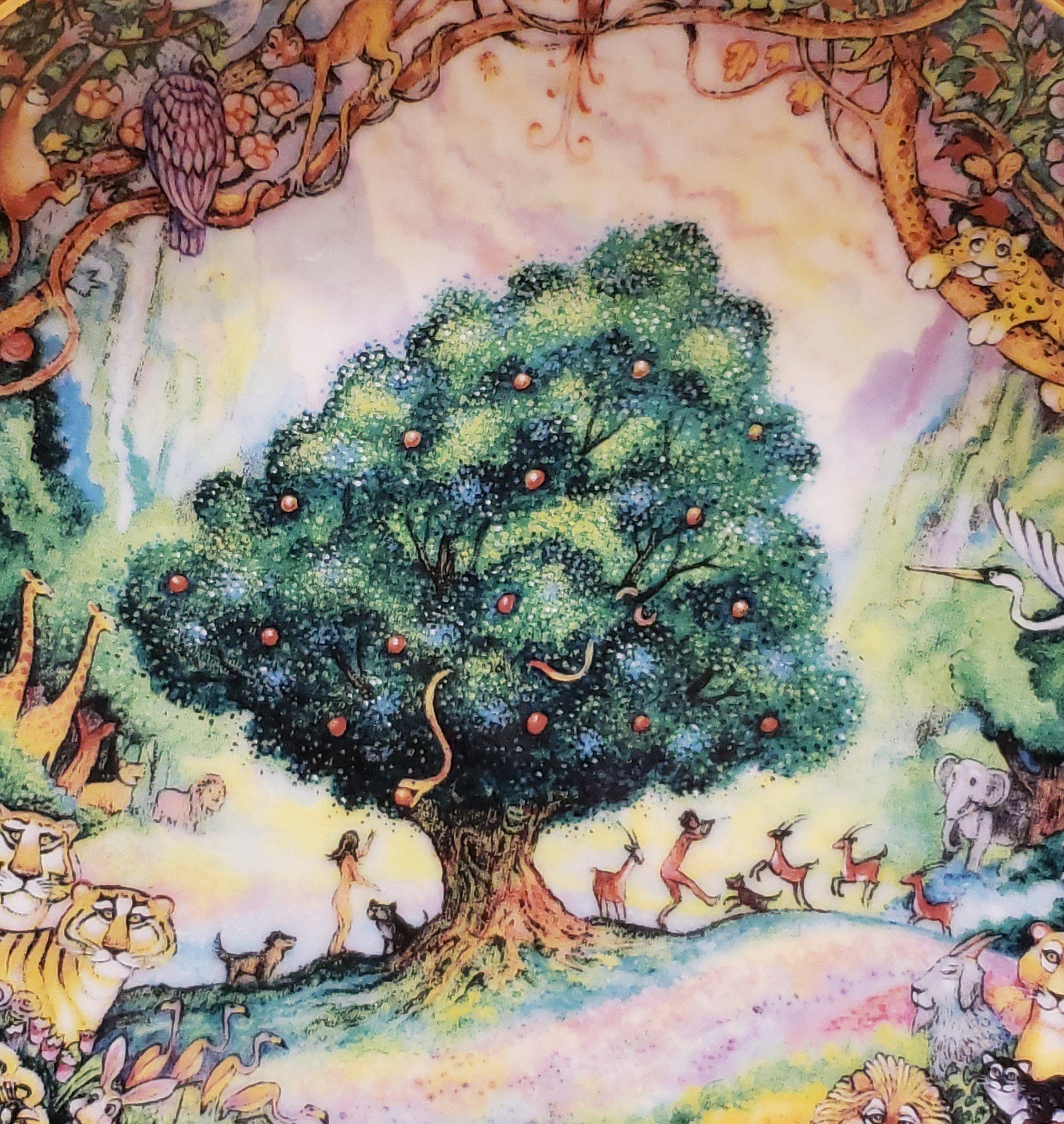 Vintage Bill Bell Decorative Plate Paradise Garden Of Eden Adam