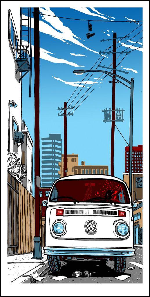 Jackie Brown Tim Doyle クールな絵 車の絵 レトロポスター
