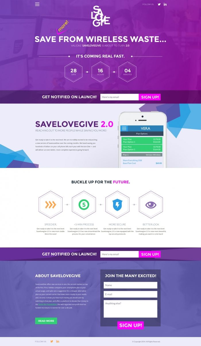 SavelovegiveCom Landing Page Design Proposal  Web Designs