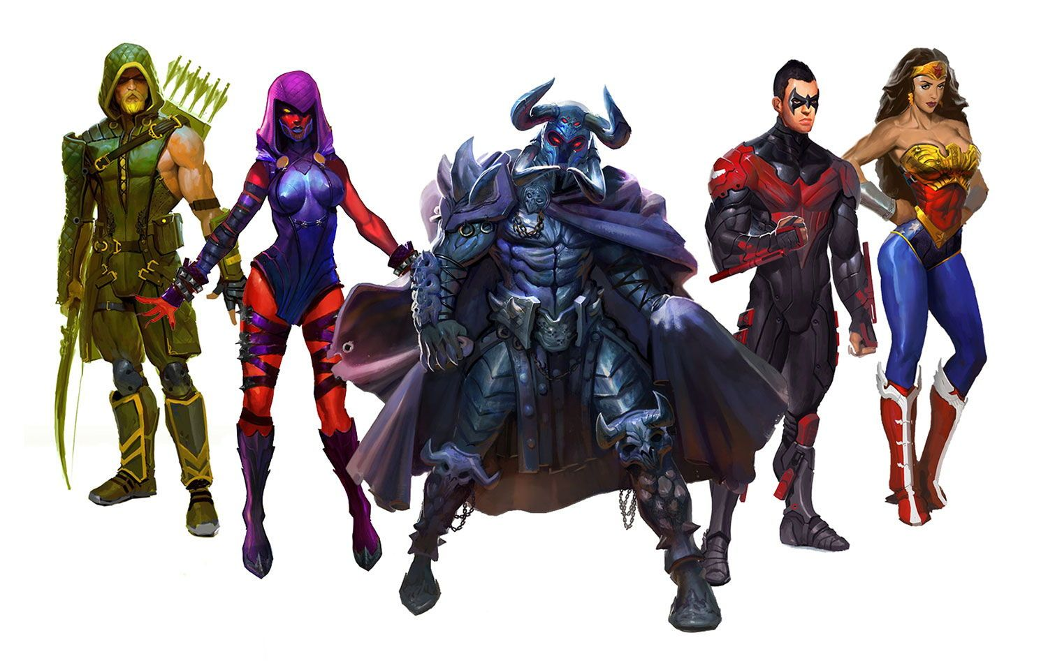 Injustice Gods Among Us Art Gallery Concept art gallery