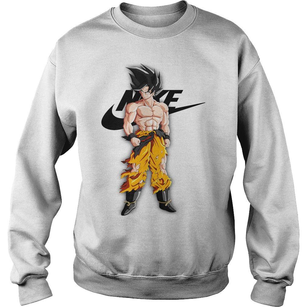 White Goku Nike Sweatshirt Nike Sweatshirts Nike Shirts Hoodies