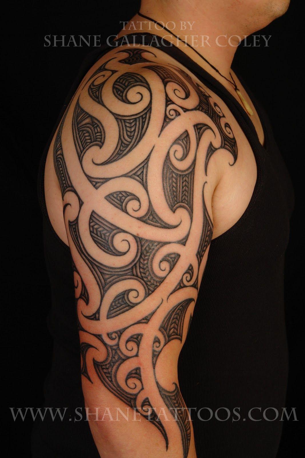 Tattoos half sleeve black polynesian tattoos for men fresh black
