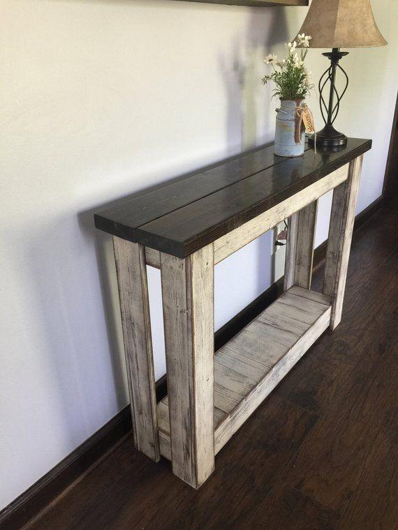Entryway Table, Farmhouse Table, Hallway Table, Sofa Table is part of Hallway Table decor - rdprimitivehomedecor
