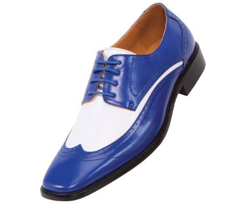 1ef07238bfa5a Amazon.com | Amali Mens Two-Tone Royal Blue and White Wingtip Oxford Dress  Shoe: Style P1056 Royal Blue-052 | Oxfords