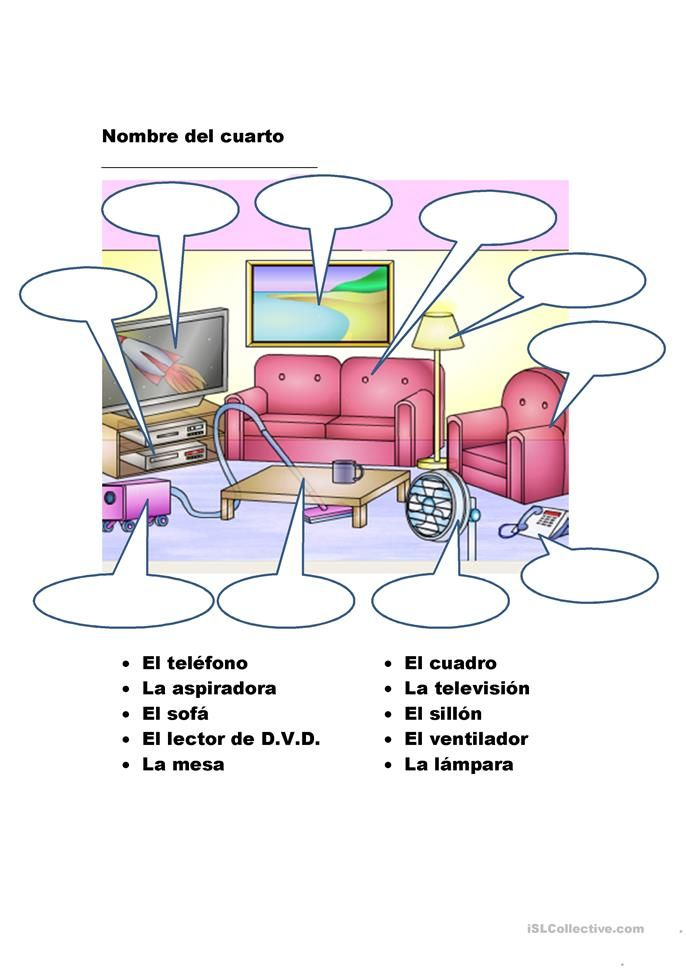 La casa | Spanish Worksheets - Hojas de Trabajo | Teaching ...