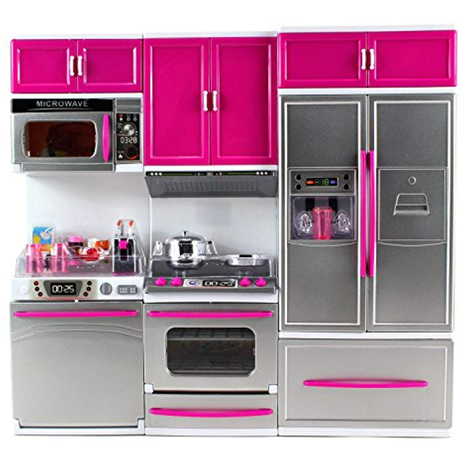 Dolls Küche Rezepte My Modern Kitchen Dishwasher Stove Refrigerator Battery ...