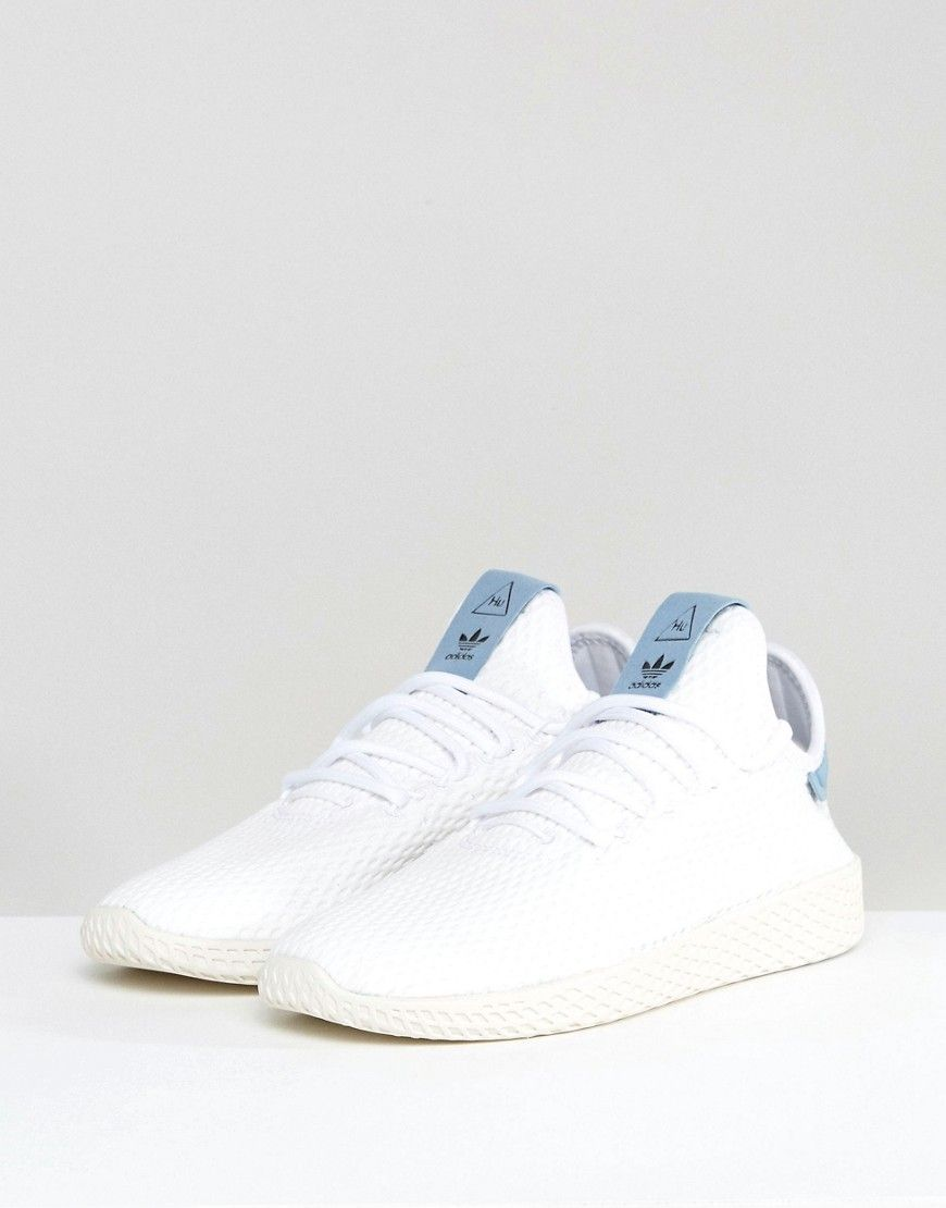 3d7eff7c0a8 adidas Originals X Pharrell Williams Tennis HU Sneakers In White And ...
