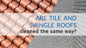 Are Tile And Shingle Roofs Cleaned The Same Way Pressure Washing By Mike Schwab Florida Spacecoast Roof Cleaning Roof Shingles Shingling