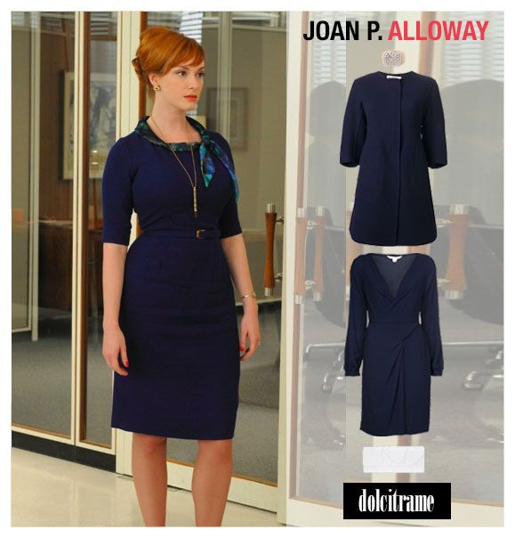 Halloween Costume Idea - Mad Men Inspiration - Joan #halloween #costume #idea #inspiration #madmen #joanhalloway #fashion #collection #dolcitrame