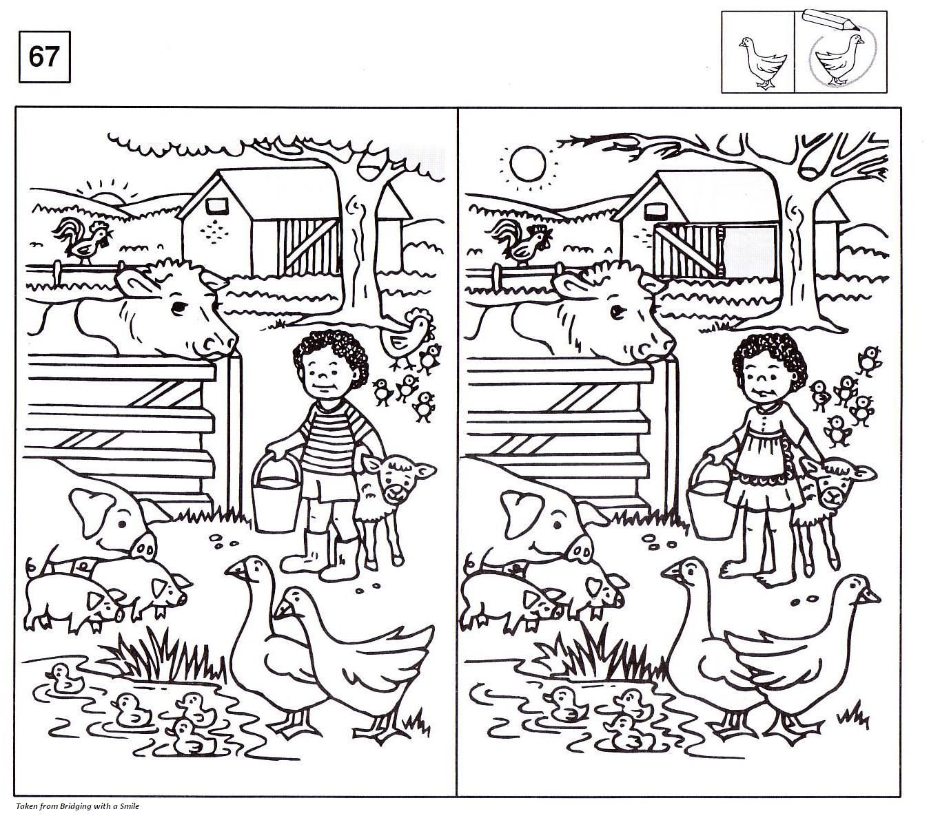 Worksheets Spot The Difference Worksheets 1000 images about spot the difference sheets on pinterest