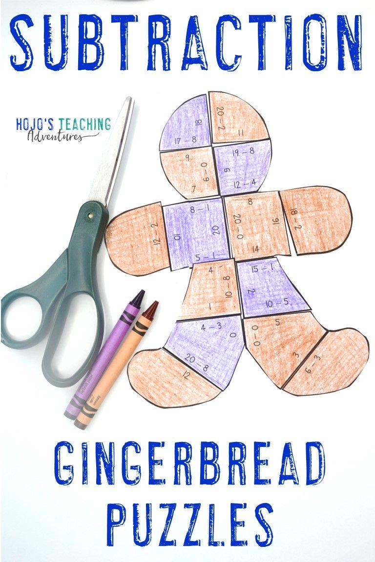Gingerbread Activities Books For Kids Hojo S Teaching Adventures Teaching Adventure Math Activities Subtraction [ 1152 x 768 Pixel ]
