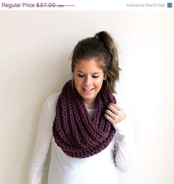 Chunky Knitted Scarf Cowl Fig- Annapolis Cowl