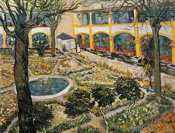 vincent van gogh garten des hospitals in arles 105 0 x 80 0 cm van gogh pinterest. Black Bedroom Furniture Sets. Home Design Ideas