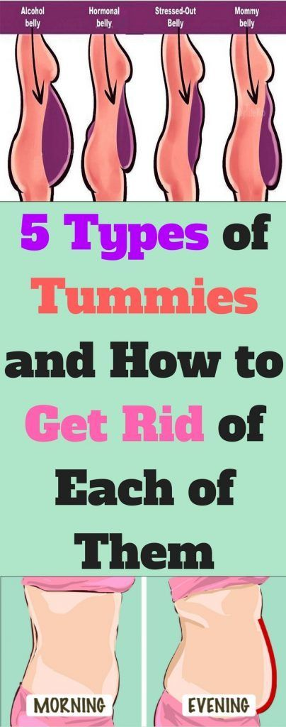 Here Are 5 Types Of Tummies & How To Get Rid Of Each Of Them…!!!  #beautytips  #fitness