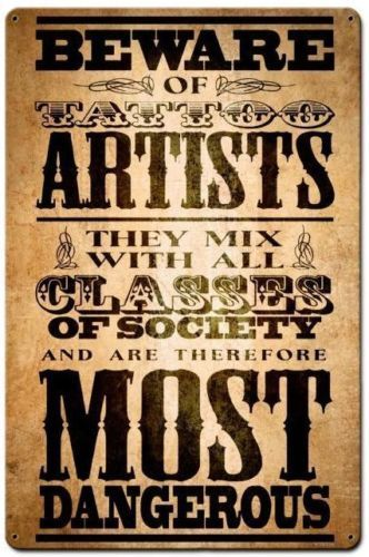 Beware-Of-Tattoo-Artist-Ink-Metal-Sign-Tattoo-Shop-Parlor-Wall-Decor ...