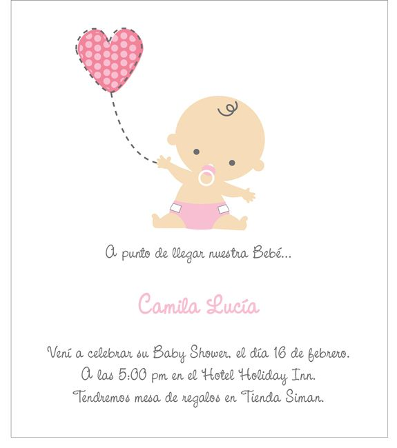 80dcf5e44 Tarjetas Baby Shower
