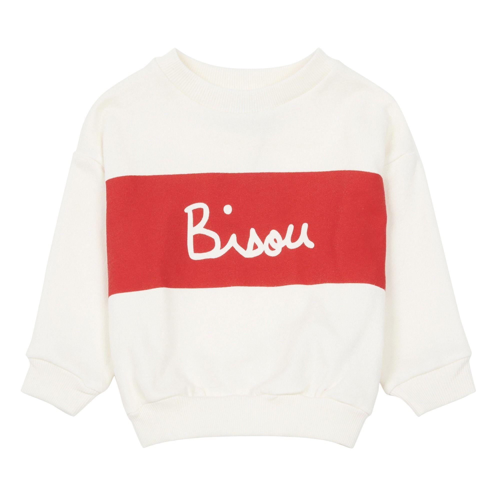 Big Bisou Organic Cotton Sweatshirt White Mathilde Cabanas Cotton Sweatshirts White Sweatshirt Sweatshirts [ 1987 x 1987 Pixel ]