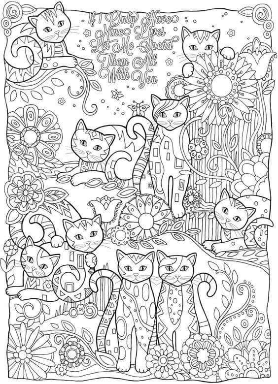 Coloring Page For The Crazy Cat Person In All Of Us Cat Coloring Book Cat Coloring Page Coloring Books