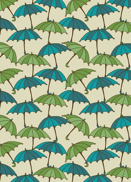 Umbrellas Pattern Green Aqua Teal Turquoise Wallpaper Patterns Backgrounds Background Iphone