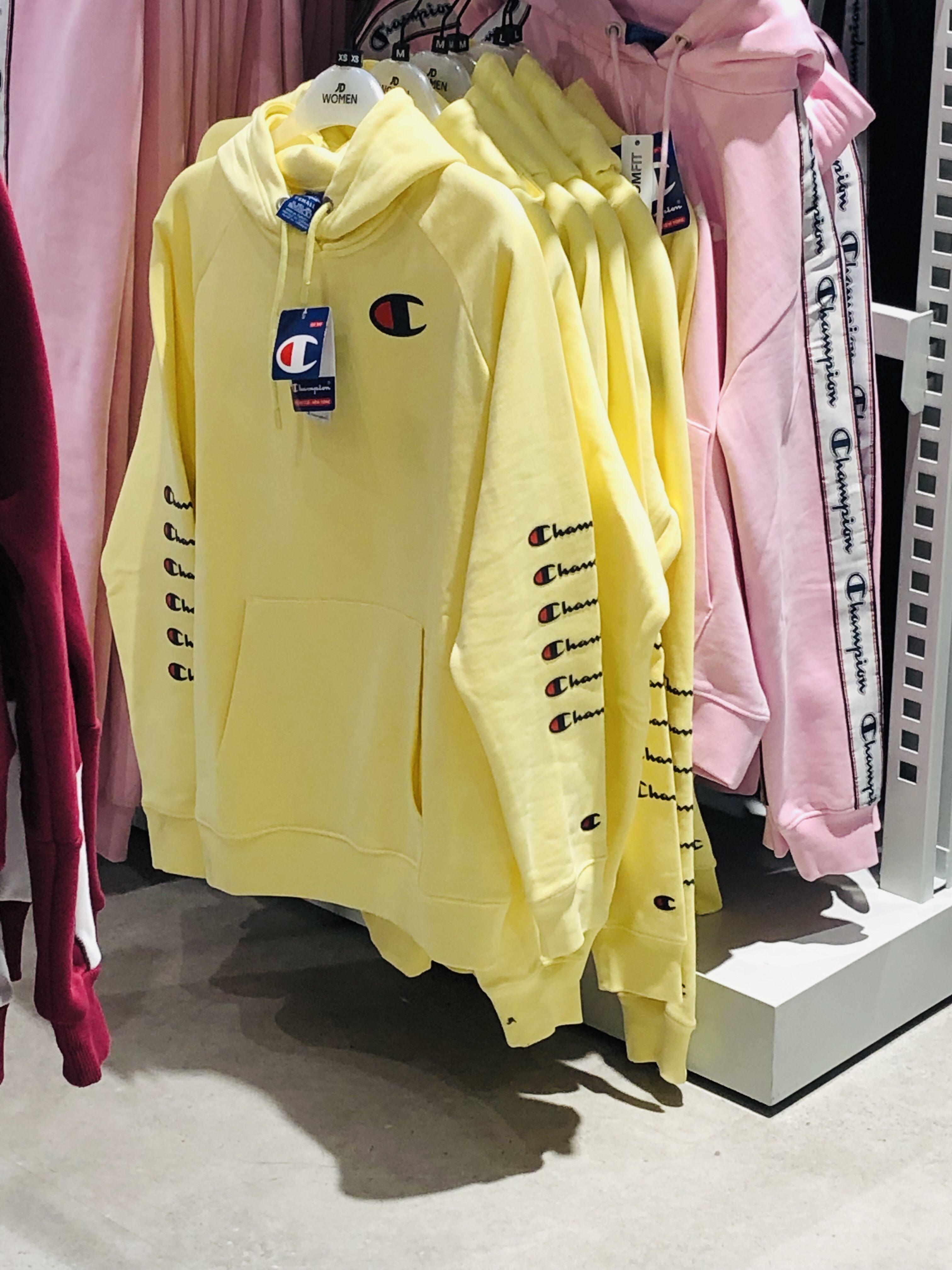 Yellow champion hoodie   Yellow