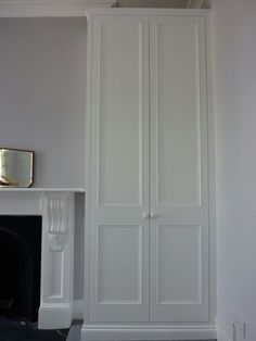 release date 59333 2ec1f white built in wardrobe doors around fireplace - Google ...