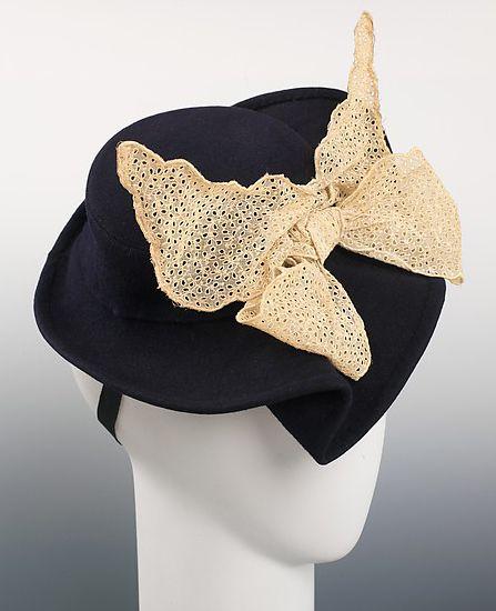 3afd6f68a Accessoires de Mode - Chapeau - Laine et Coton - Elsa Schiaparelli ...