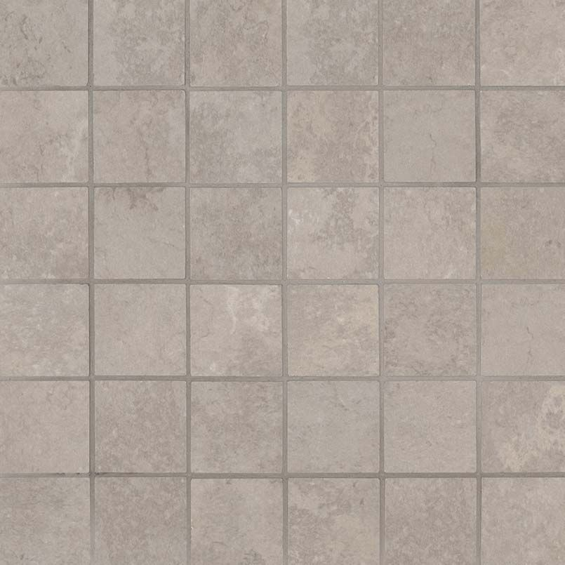 Ntemgre2x2 Tempest Grey 2x2 Mosaic Beige Porcelain Small Square