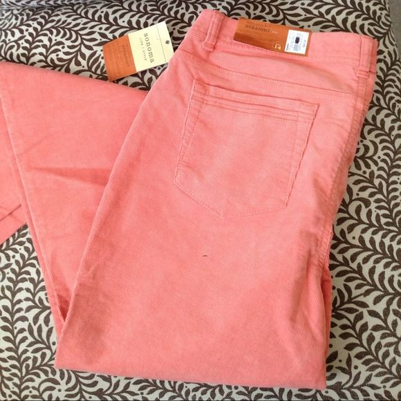 Sonoma Pants - SALE $10 or 3/25! Peachy coral tall stretch cords