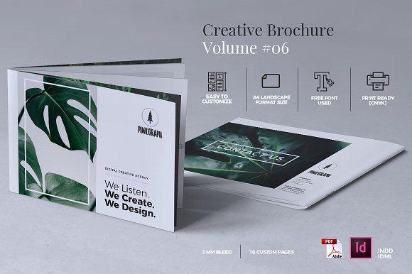 Creative Brochure Design Templates | Creative Brochure Template Vol 06 By Misterryart On