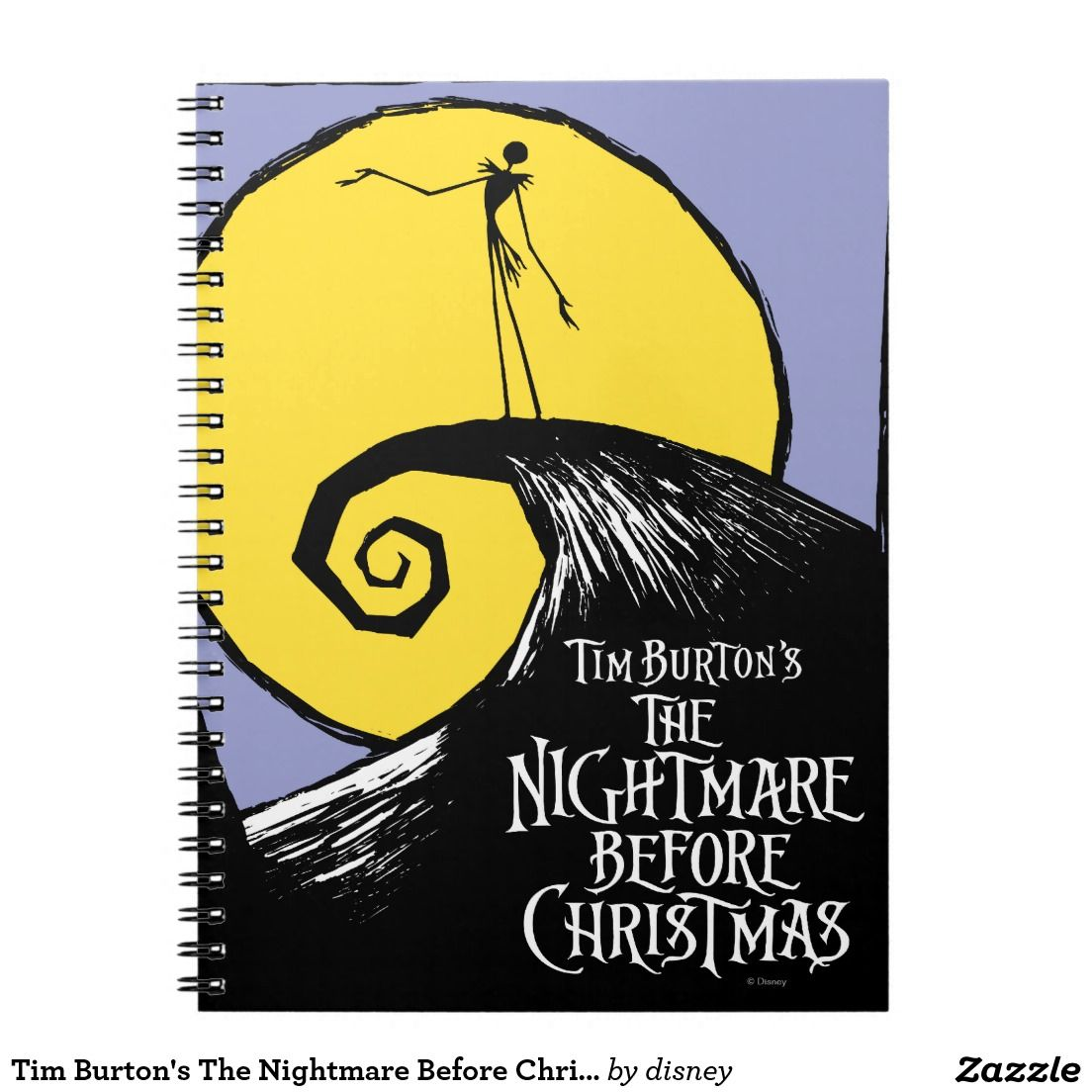 Tim Burton\'s The Nightmare Before Christmas Spiral Notebook ...
