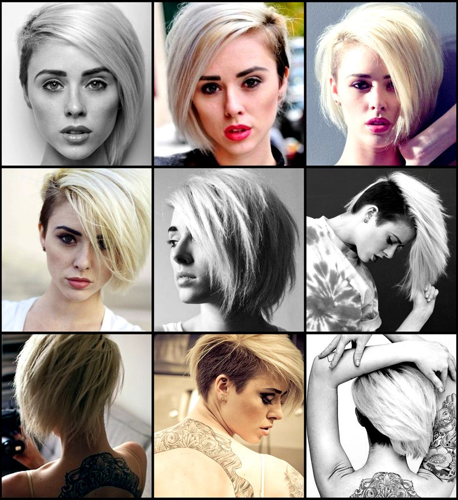 asymmetrical bob with one side shaved | hairstyles!! and